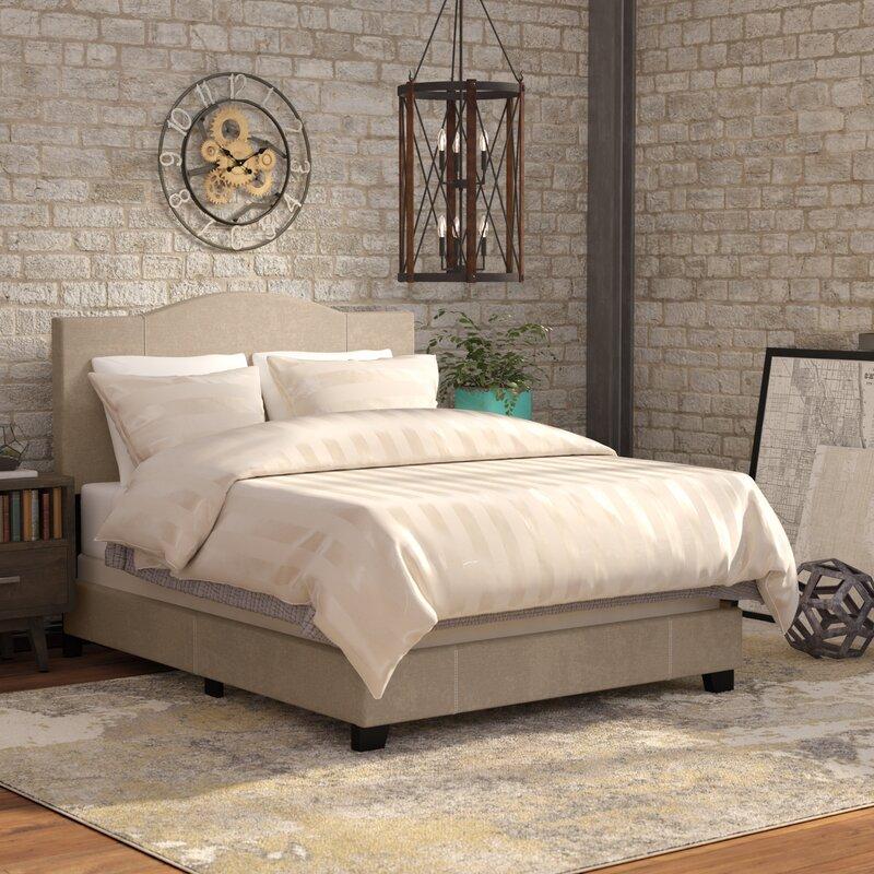 Varian Upholstered Storage Bedroom Bench Birchlane: Black Mesa Modified Camel Back Upholstered Panel Bed