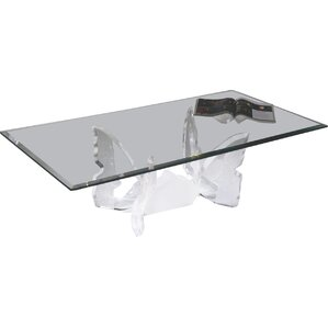 Butterfly II Acrylic Coffee Table Base by Shahrooz