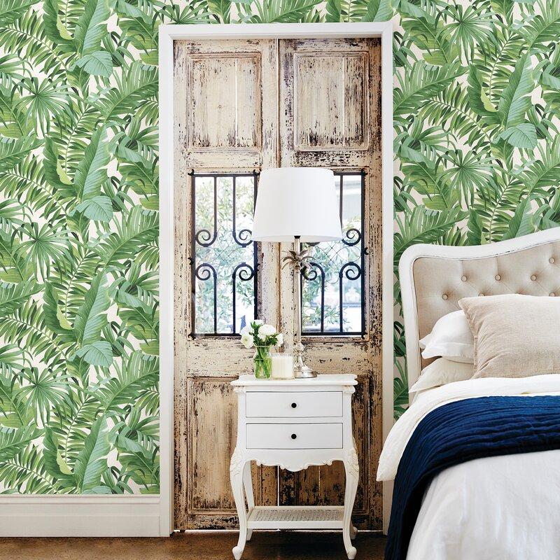 Solstice Alfresco 33 X 205 Palm Leaf Wallpaper Roll