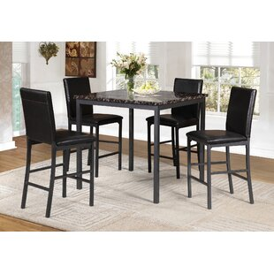 Kirkbride Marble 5 Piece Dining Set