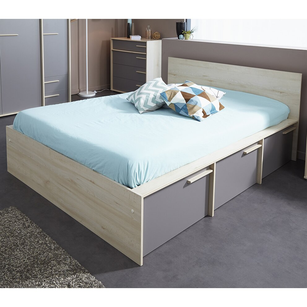 parisot connect full double storage platform bed reviews wayfair. Black Bedroom Furniture Sets. Home Design Ideas