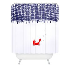 Robert Farkas Alone In The Forest Shower Curtain