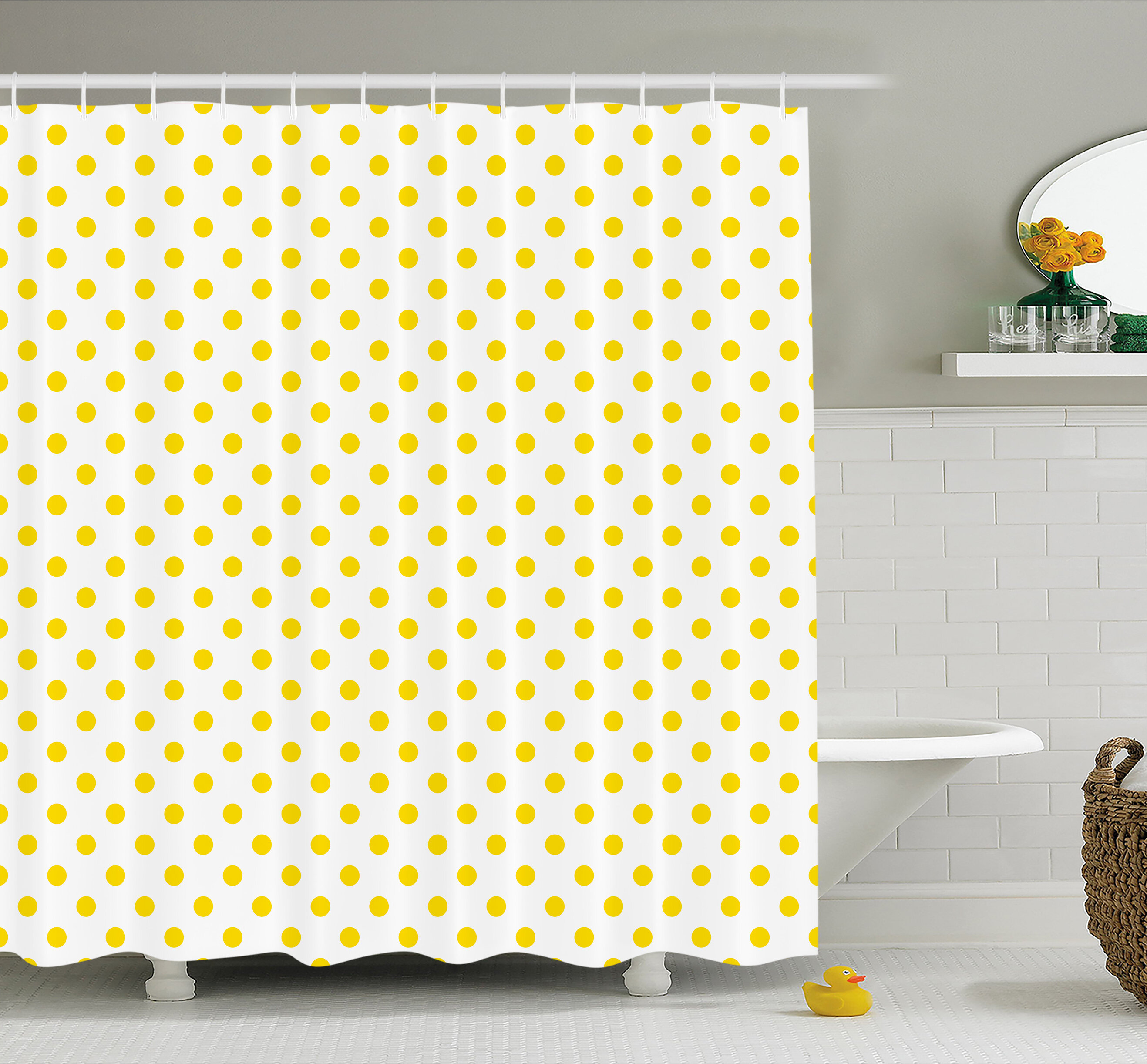 Ambesonne Picnic Like Cute 50s 60s 70s Themed Spotted Pattern Print ...