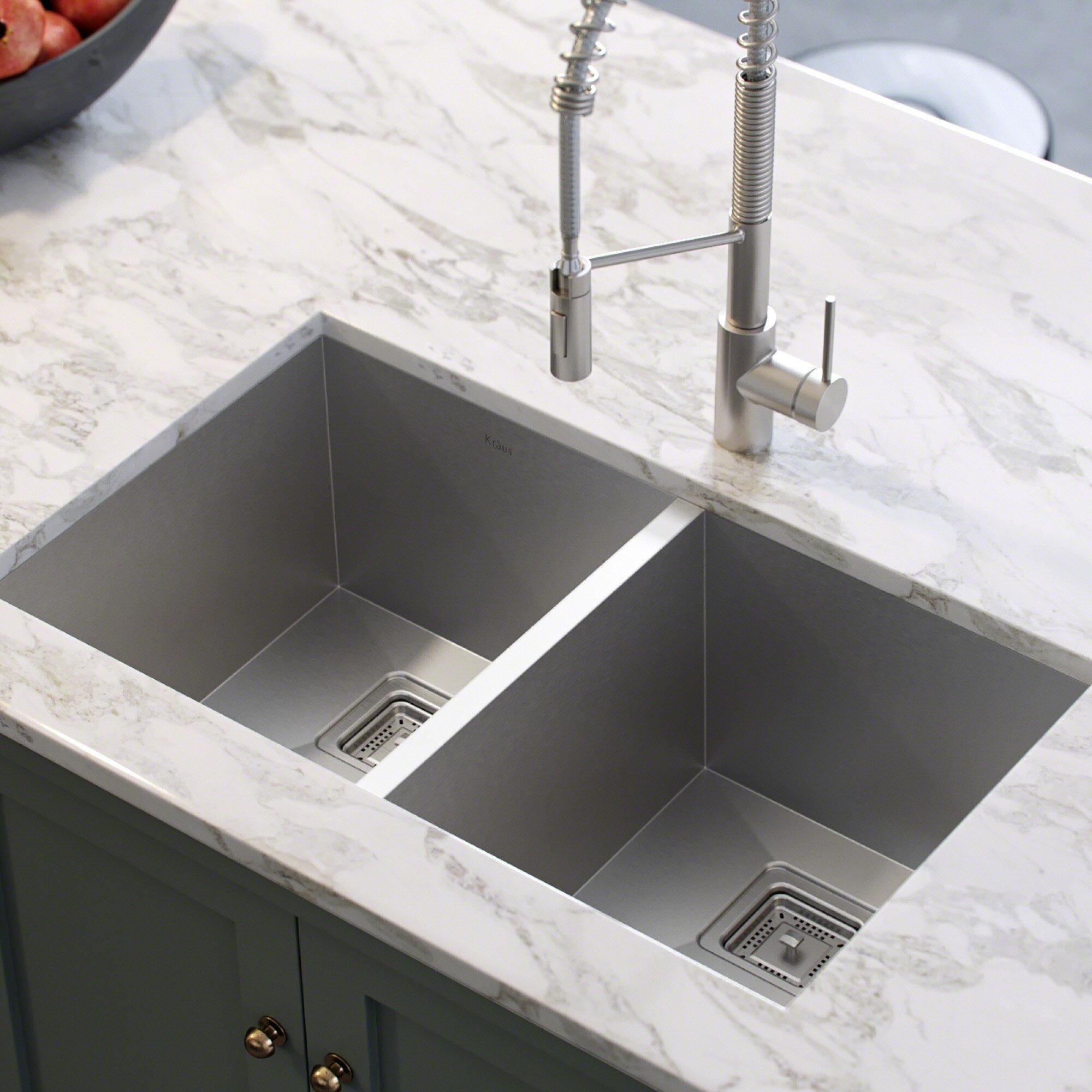 Khu322 Pax 31 5 X 18 Double Basin Undermount Kitchen Sink