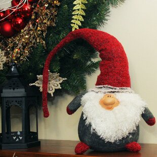 d56121f6987 Plush Nordic Santa Christmas Gnome with Bendable Hat Tabletop Figure