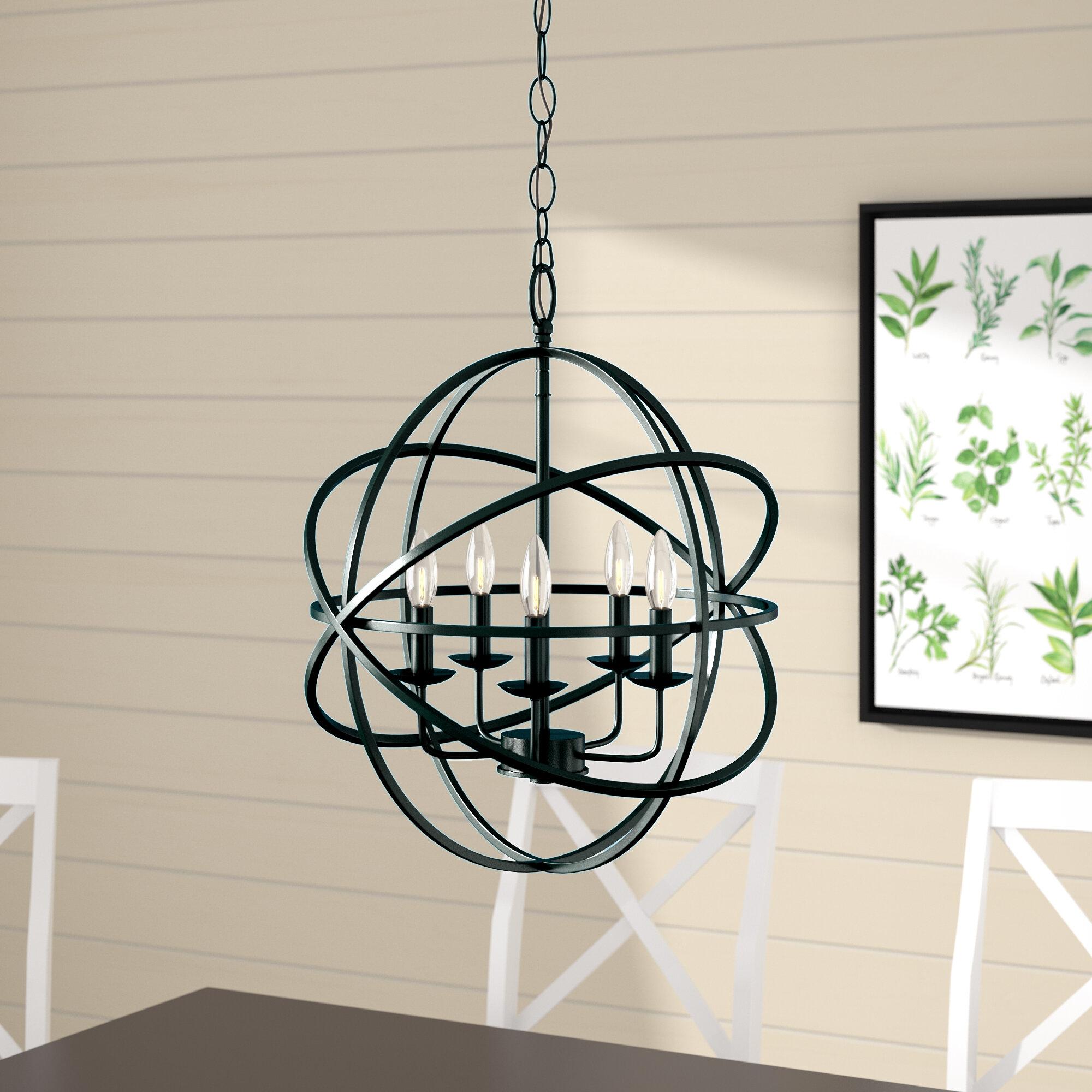 Laurel Foundry Modern Farmhouse Hankinson 5 Light Globe Chandelier Reviews Wayfair