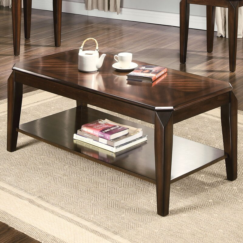 ACME Furniture Docila Walnut 3 Piece Coffee Table Set