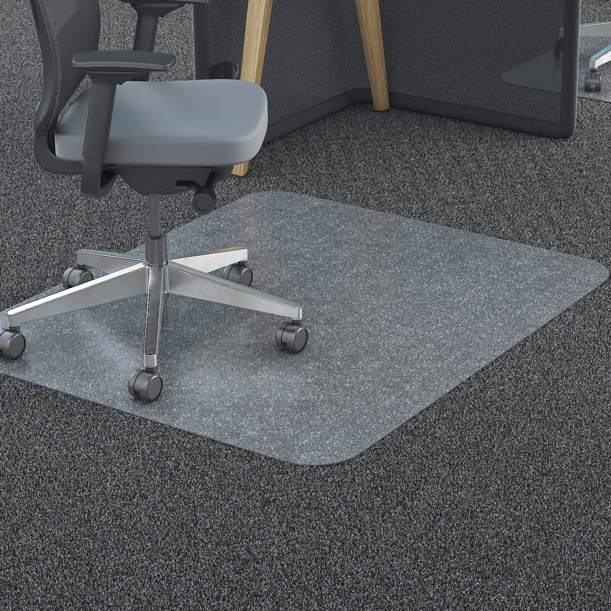 36 X 46 Clearly Innovative Lifetime Gl Chairmat With Patented Beveled Edges