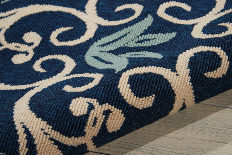 Alcott Hill Carleton Navy Indoor Outdoor Area Rug
