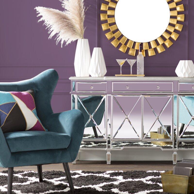Willa arlo interiors bouck wingback chair reviews wayfair - Willa arlo interiors keeley bar cart ...