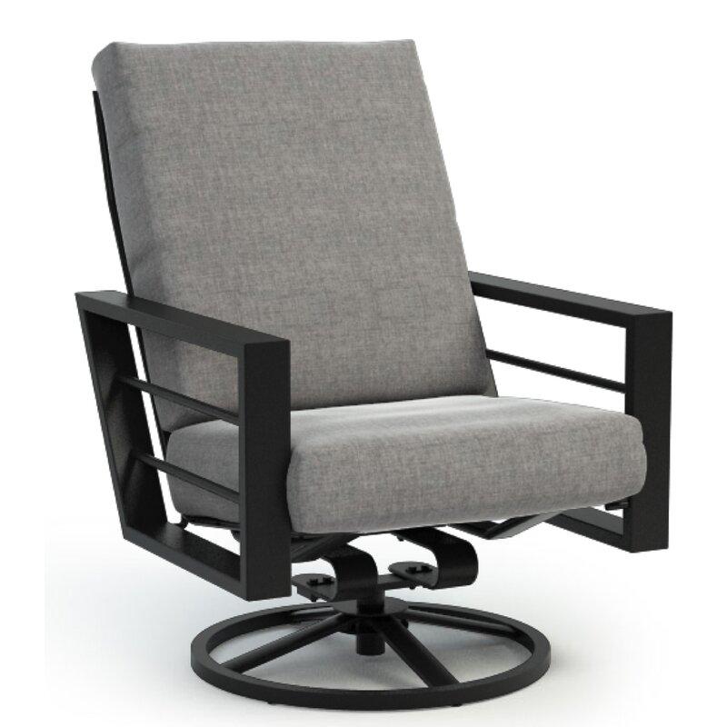 Brayden Studio Niles High Back Rocker Chat Swivel Patio Chair With