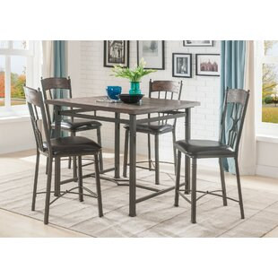 Dunleavy 5 Piece Counter Height Dining Set
