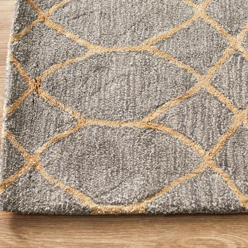 kerala handmade wool gray area rug reviews joss main. Black Bedroom Furniture Sets. Home Design Ideas