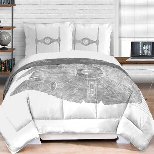 18b9a1493fb Classic Falcon Star Wars Reversible Comforter Set