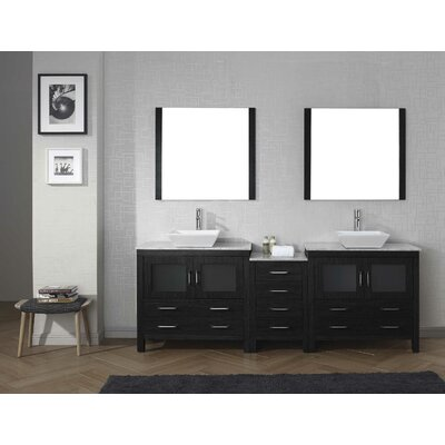 "red barrel studio halcomb 92"" double bathroom vanity set with"