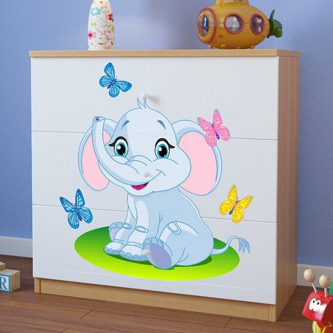 Kocot Kids Anpassbares Schlafzimmer-Set Elephant mit Stauraum ...
