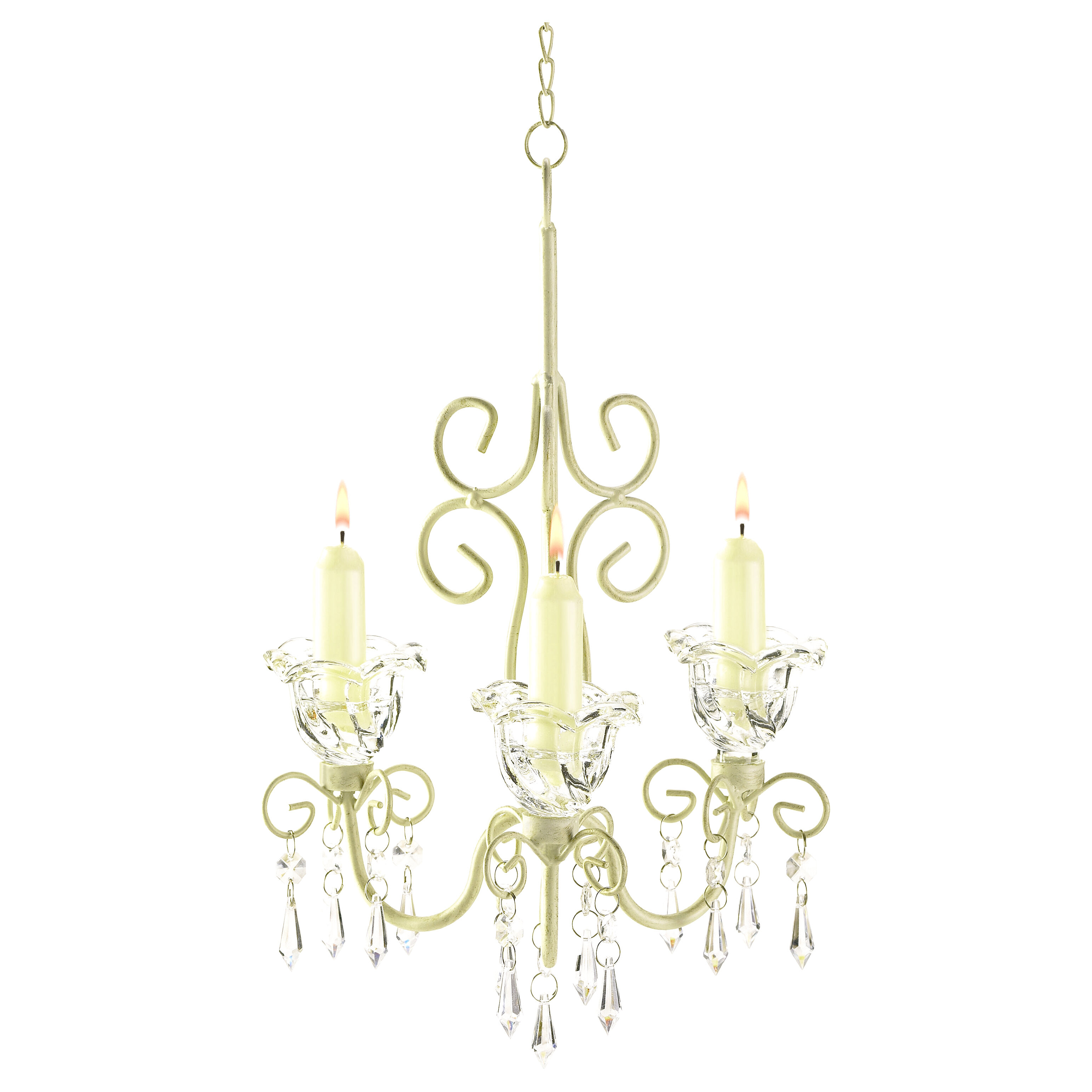 Harriet Bee Barr Iron & Acrylic 3 Light Crystal Chandelier