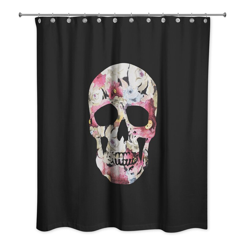 The Holiday Aisle Skull Shower Curtain