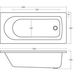 Barmby Eternalite Round Standard Soaking Bathtub by Premier