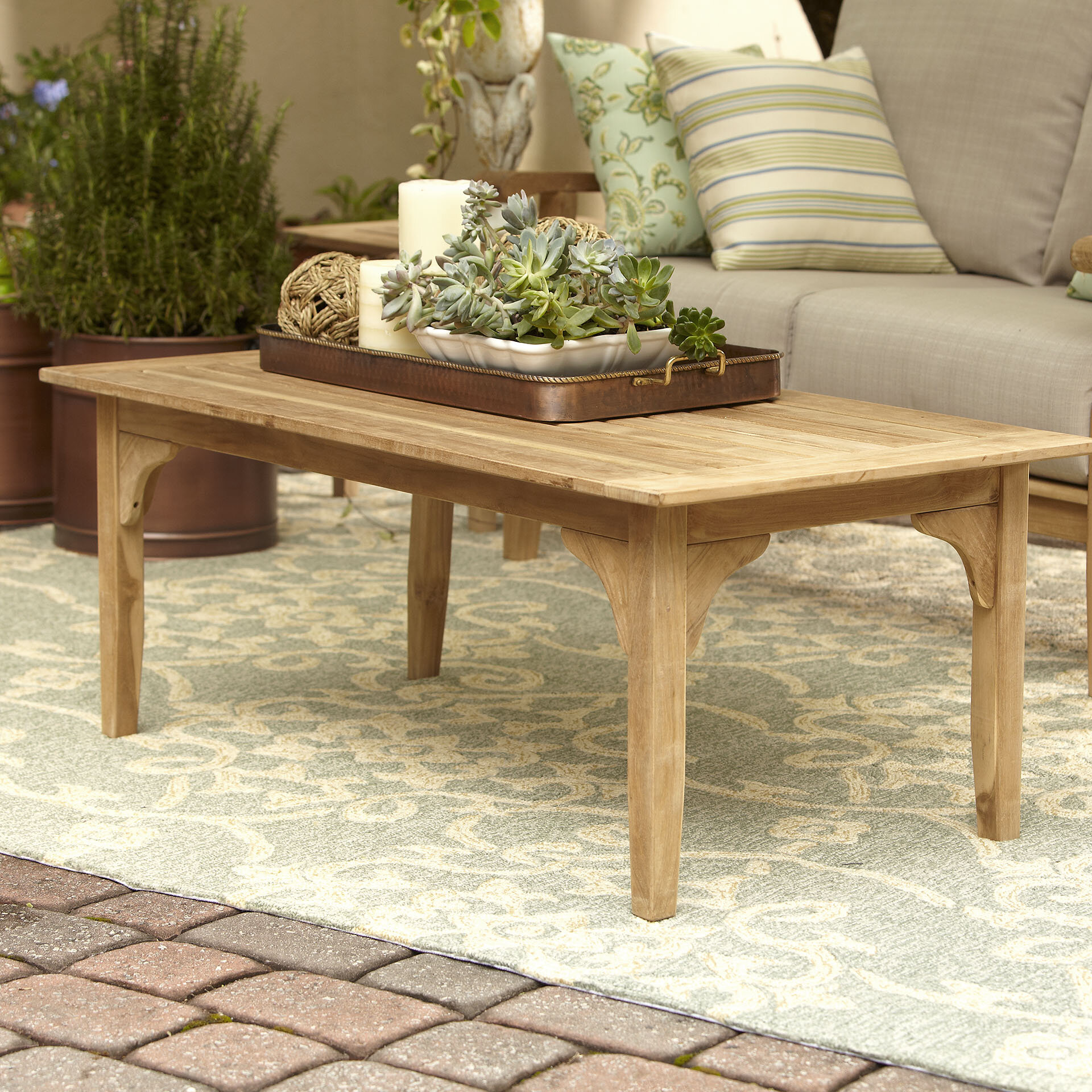 Birch Lane Heritage Summerton Teak Coffee Table Reviews Birch Lane