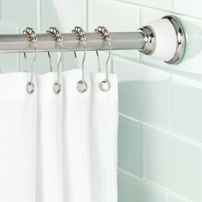 York 87 Adjustable Straight Tension Shower Curtain Rod