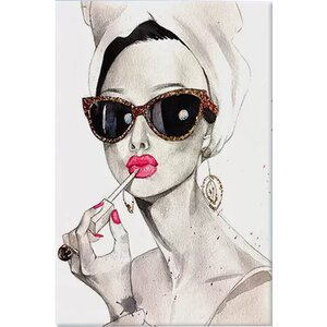 'Audrey Hepburn' Painting Print on Canvas