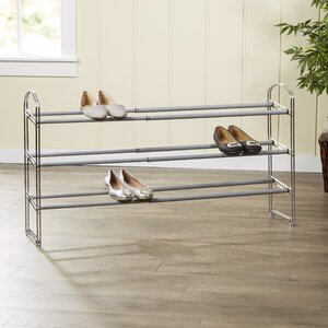 Wayfair Basics Expandable 3 Tier 21 Pair Shoe Rack