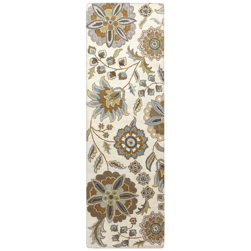 Birch Lane™ Jasmine Parchment & Moss Tufted Wool Area Rug