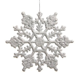 Glitter Snowflake Christmas Shaped Ornament (Set of 24)