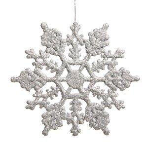 Glitter Snowflake Christmas Shaped Ornament (Set of 24)