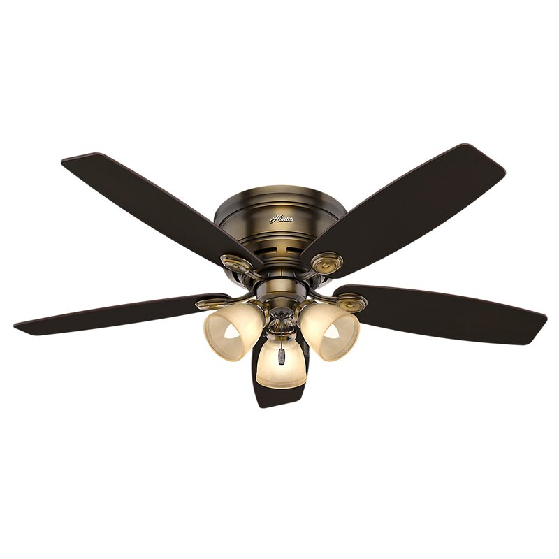 52 Emely Low Profile Iv Plus 5 Blade Ceiling Fan Light Kit Included