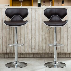 Harlow Adjustable Height Swivel bar stool (Set of 2) & Swivel Barstools Youu0027ll Love | Wayfair islam-shia.org