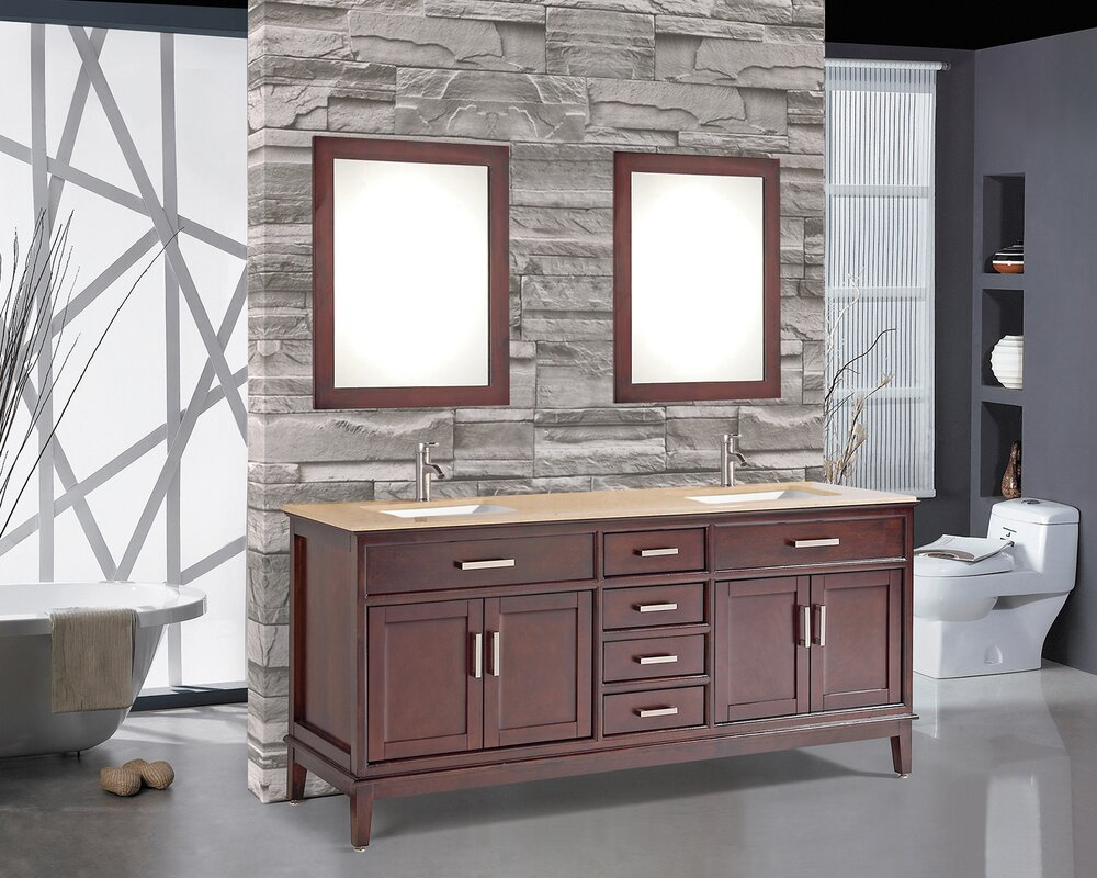 Bathroom Vanity Set. Middleton 59 8  Double Bathroom Vanity Set with Mirror and Faucet