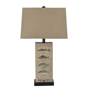 Fish lamps wayfair leather fish 28 table lamp aloadofball Image collections