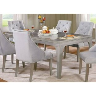 Isidore 7 Piece Solid Wood Dining Set