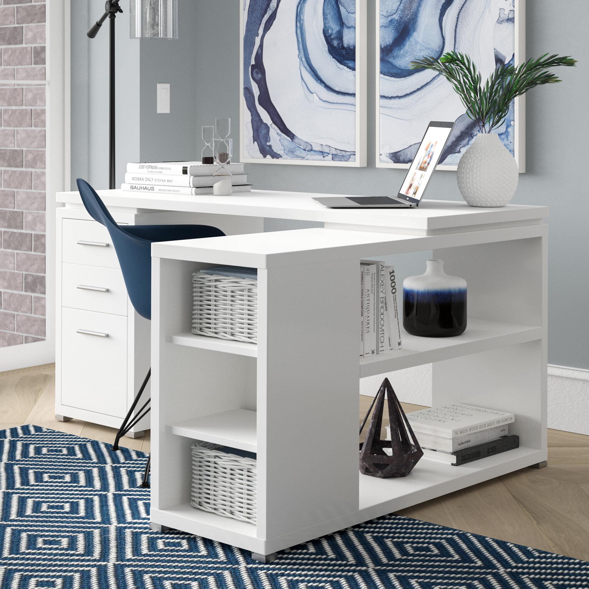 Mercury Row Senga L Shape Executive Desk U0026 Reviews | Wayfair