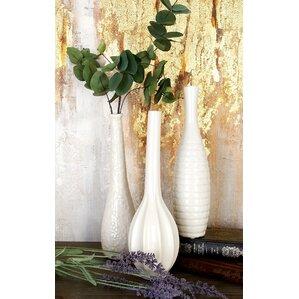 3 Piece Stoneware Table Vase Set (Set Of 3)