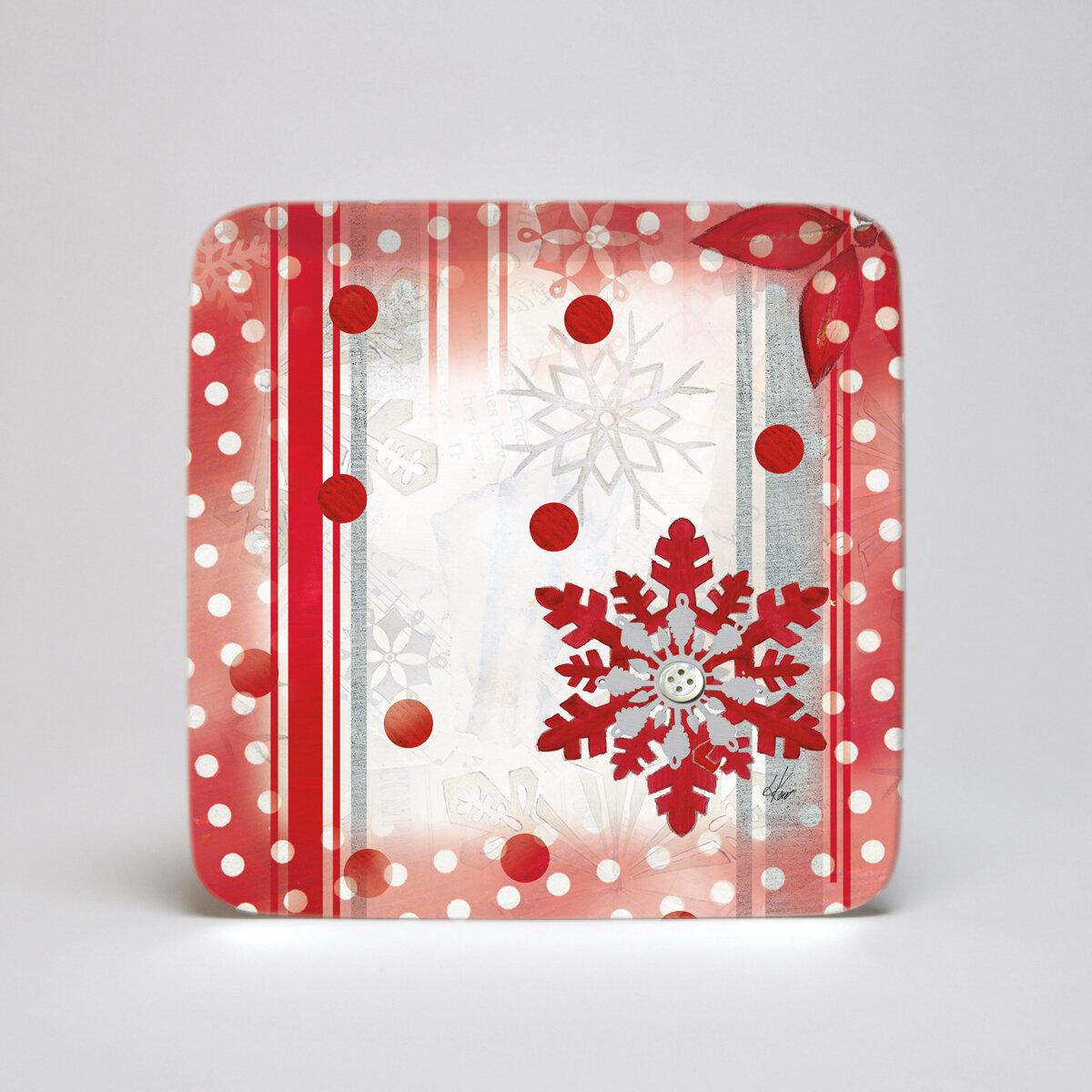 & Lang Winter Holiday Melamine Square 10.5