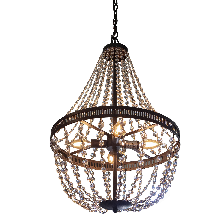 Weidman 4 light crystal chandelier reviews joss main