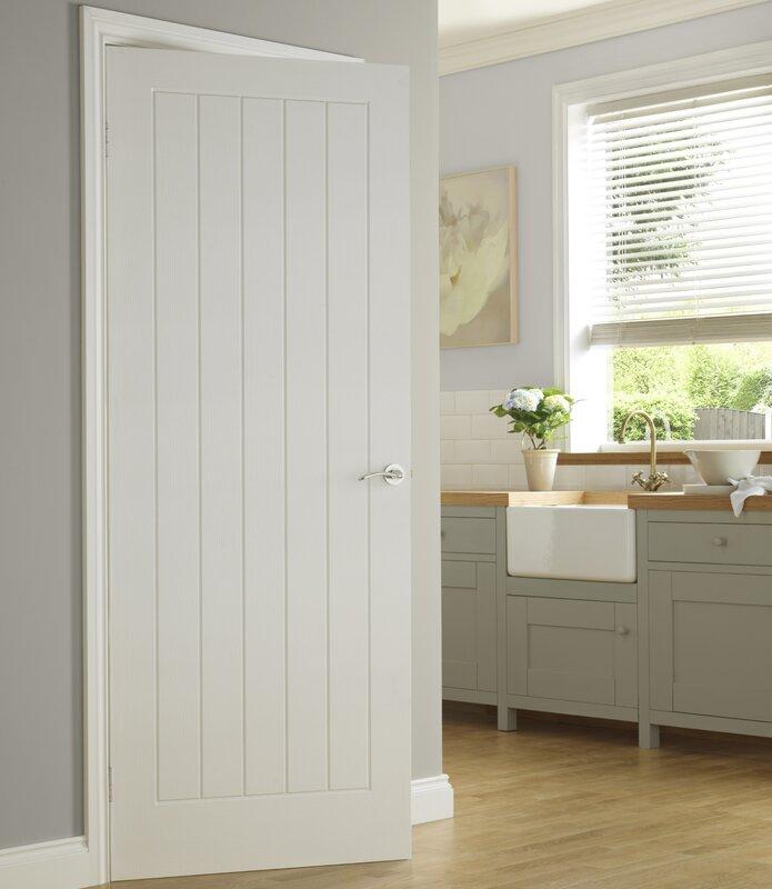 Wood 5 Panel Painted Internal Door & Premdor Wood 5 Panel Painted Internal Door \u0026 Reviews   Wayfair.co.uk