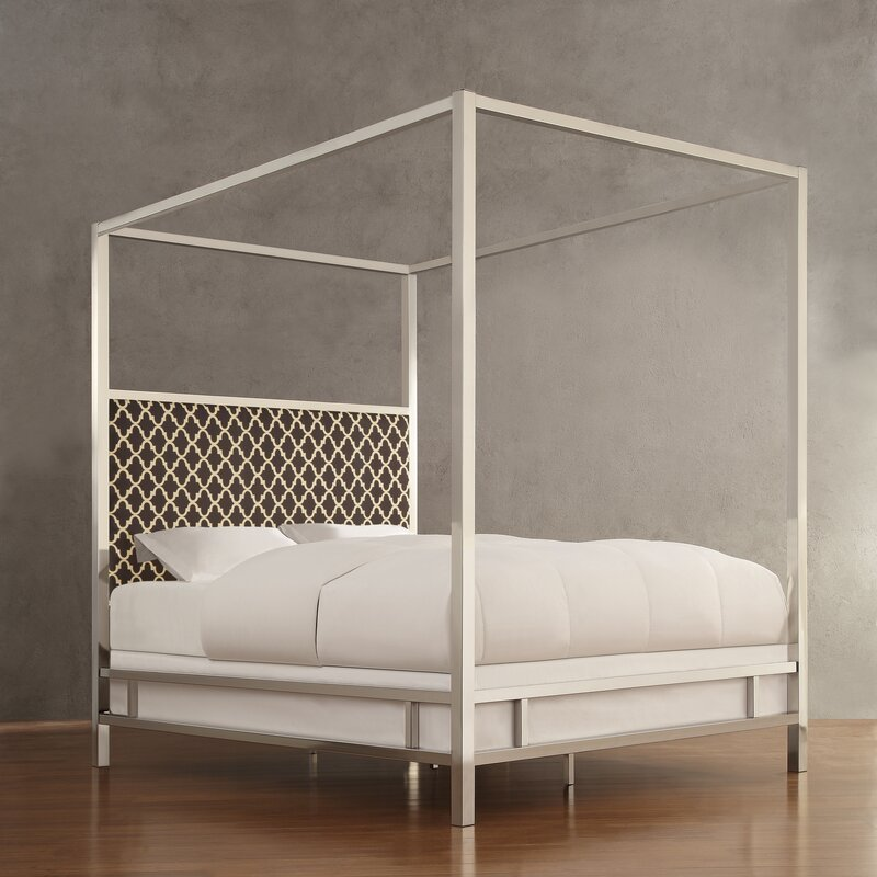 Chattel Upholstered Canopy Bed & Chattel Upholstered Canopy Bed u0026 Reviews | AllModern