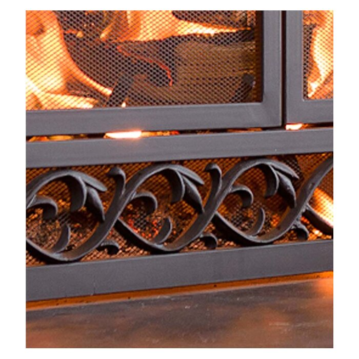 fireplaces popular black safety choice iron screen fireplace top