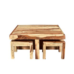 Mckenzie Coffee Table With 4 Nested Stools