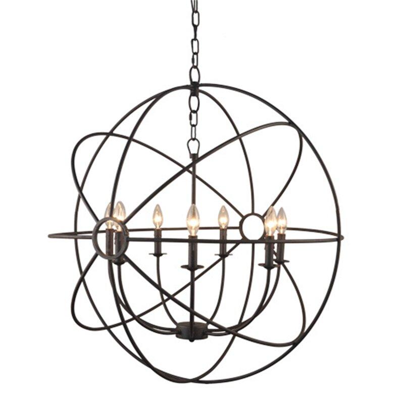 Greyleigh Lovettsville 7 Light Led Globe Chandelier Reviews