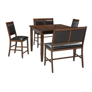 Chavers 5 Piece Counter Height Dining Set by Andover Mills