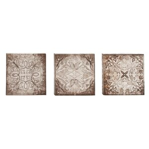 Wall Art Set Of 3 3 piece geometric wall art you'll love | wayfair