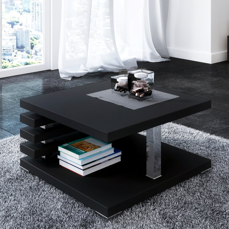Black Coffee Table With Storage Uk: Riley Ave. Lola Coffee Table With Storage & Reviews