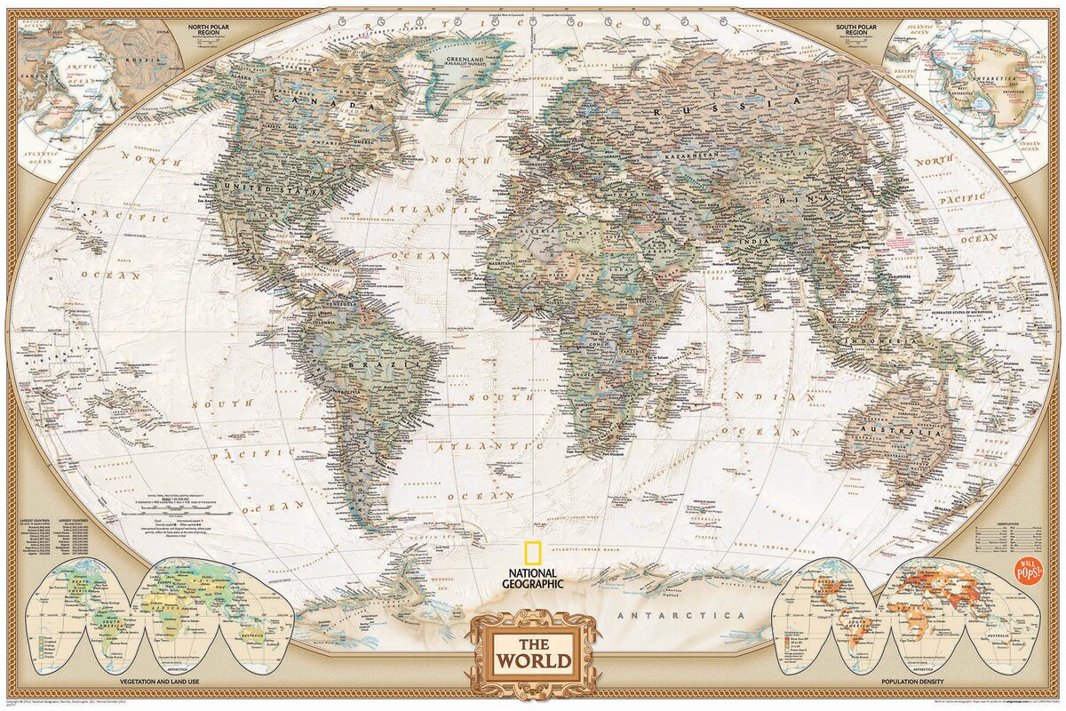 Wallpops wall art kit national geographic world map wall mural wall art kit national geographic world map wall mural amipublicfo Gallery