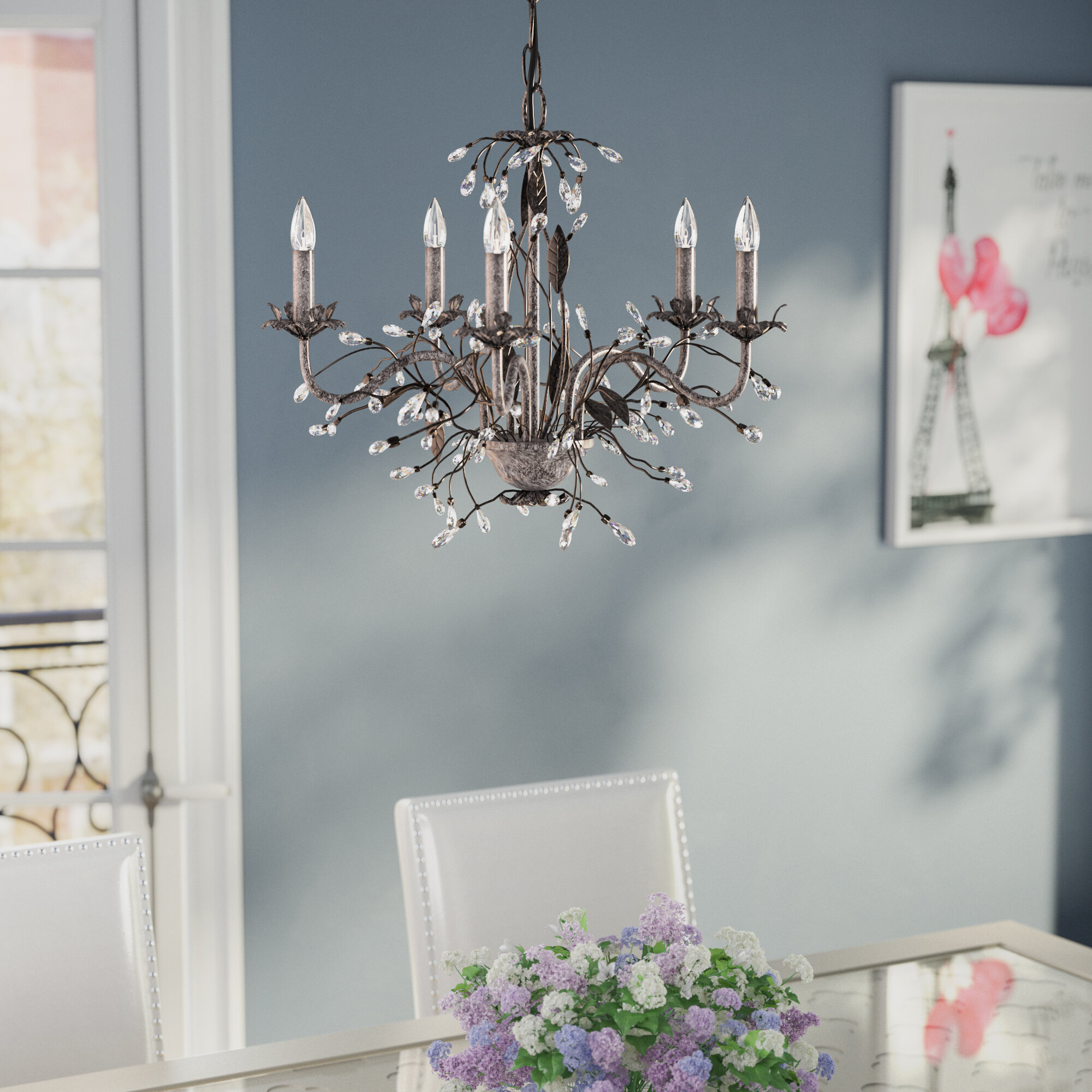 House of Hampton 5 Light Candle Style Chandelier & Reviews
