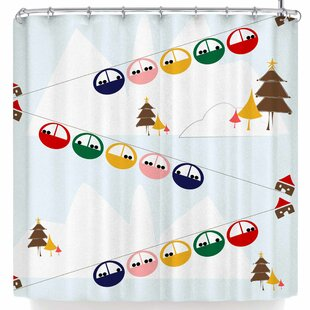 Bruxamagica Cable Skis Shower Curtain